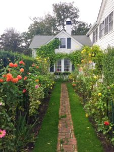 Cure house in Edgartown with stunning gardens